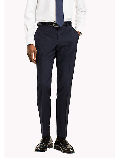 TOMMY HILFIGER Virgin Wool Fitted Trousers - 019 - TOMMY HILFIGER Suit Separates - main image