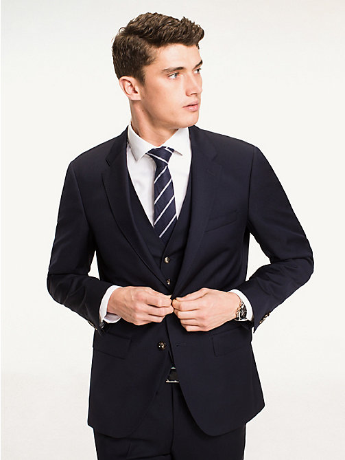 TOMMY HILFIGER Single Breasted Virgin Wool Blazer - 427 - TOMMY HILFIGER Blazers - main image