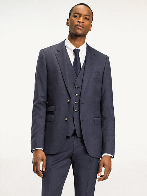TOMMY HILFIGER Slim Fit Virgin Wool Blazer - 425 - TOMMY HILFIGER Suit Separates - main image
