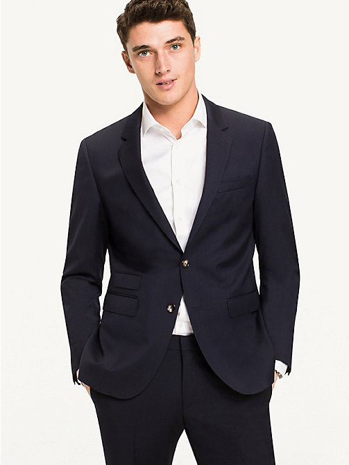 TOMMY HILFIGER Slim Fit Virgin Wool Blazer - 427 - TOMMY HILFIGER Blazers - main image