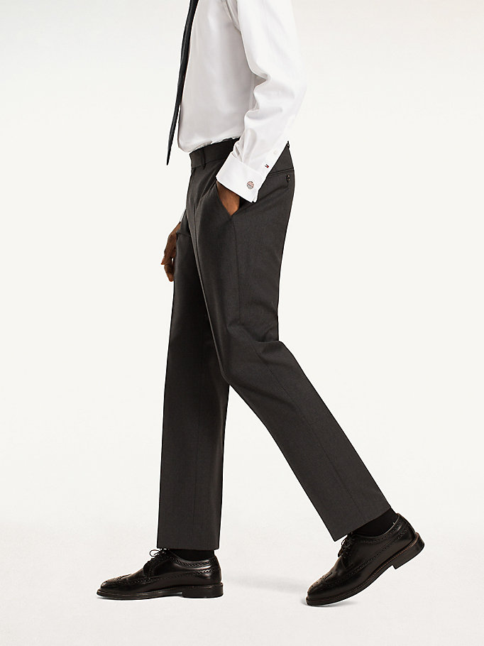 TOMMY HILFIGER Rhames Wool Fitted Trousers - 427 - TOMMY HILFIGER Clothing - detail image 2