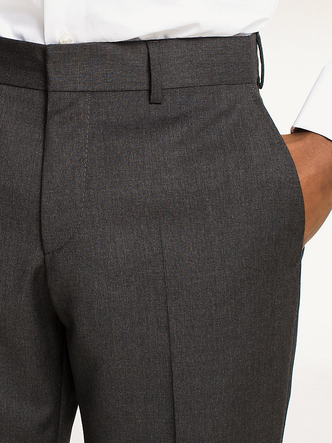TOMMY HILFIGER Rhames Wool Fitted Trousers - 427 - TOMMY HILFIGER Clothing - detail image 3