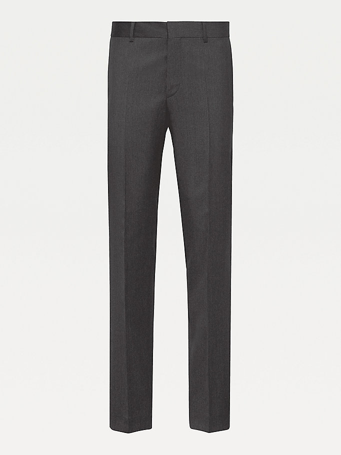 TOMMY HILFIGER Rhames Wool Fitted Trousers - 427 - TOMMY HILFIGER Clothing - detail image 4