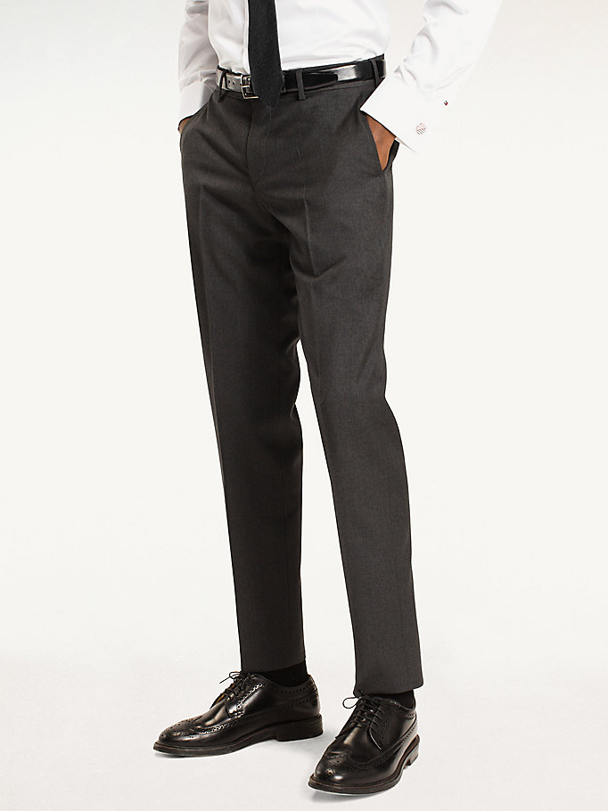TOMMY HILFIGER Rhames Wool Fitted Trousers - 427 - TOMMY HILFIGER Clothing - main image