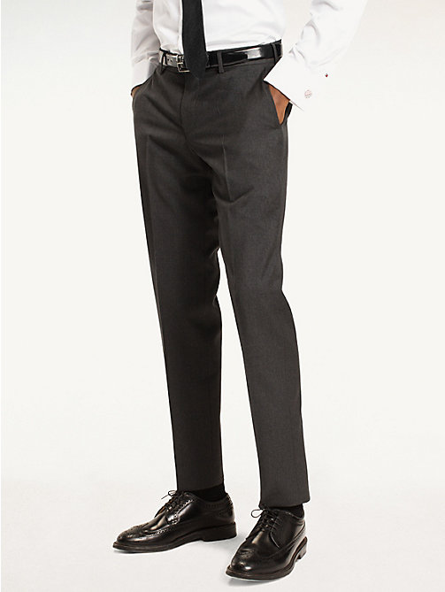 TOMMY HILFIGER Rhames Wool Fitted Trousers - 019 - TOMMY HILFIGER Tailored - main image