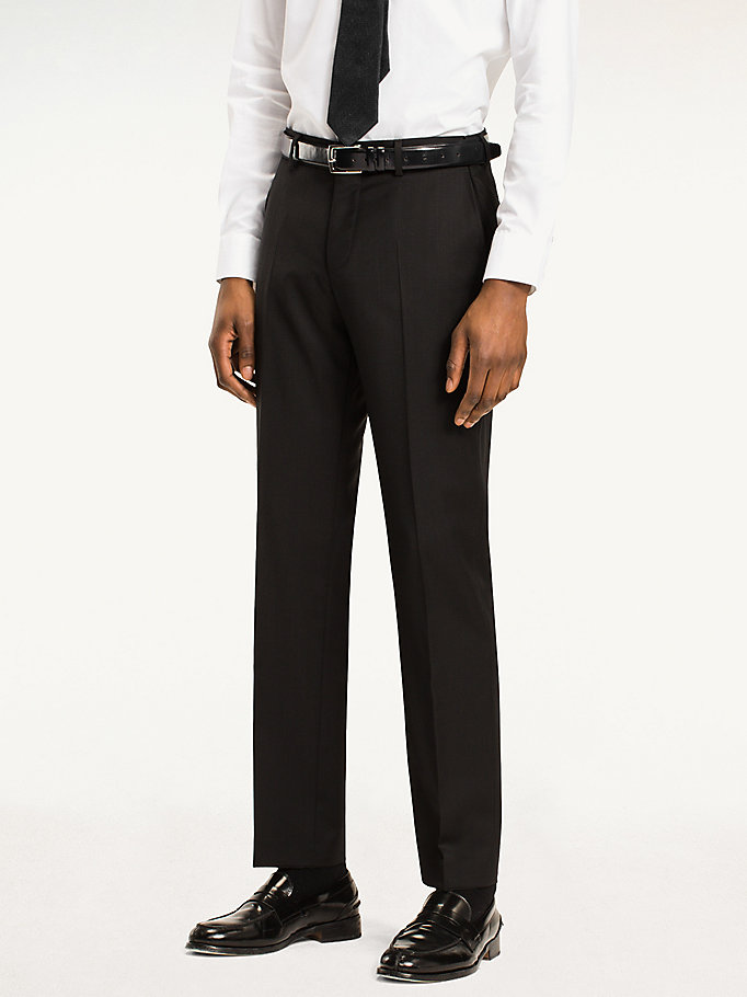 TOMMY HILFIGER Rhames Wool Fitted Trousers - 019 - TOMMY HILFIGER Clothing - main image