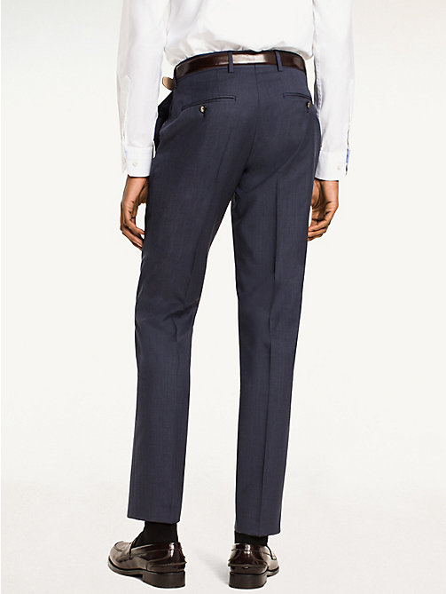 TOMMY HILFIGER Rhames Wool Fitted Trousers - 425 - TOMMY HILFIGER Tailored - detail image 1