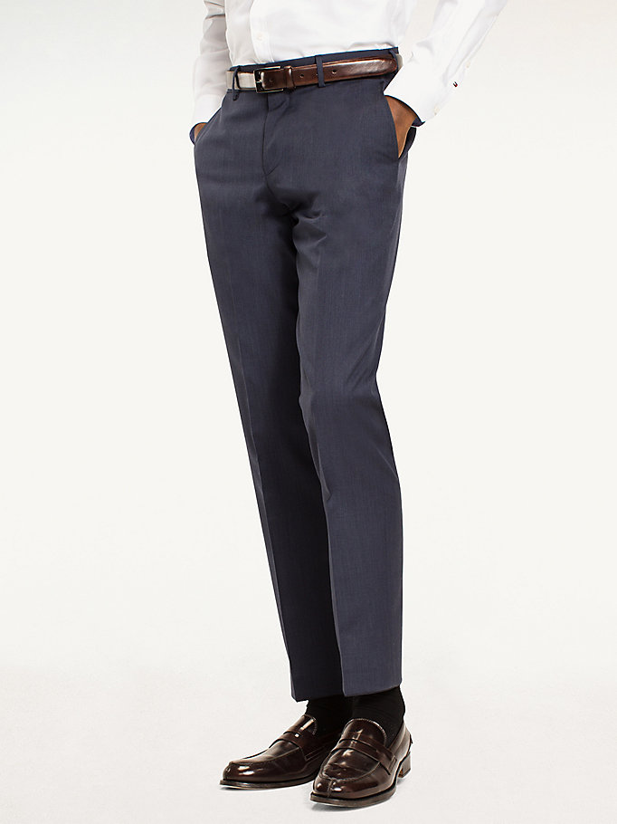 TOMMY HILFIGER Rhames Wool Fitted Trousers - 099 - TOMMY HILFIGER Clothing - main image