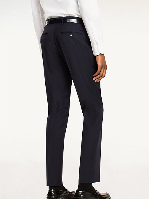 TOMMY HILFIGER Rhames Wool Fitted Trousers - 427 - TOMMY HILFIGER Tailored - detail image 1