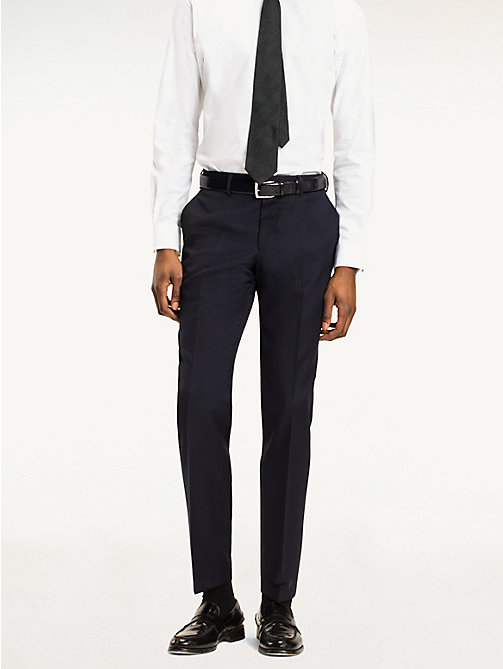 TOMMY HILFIGER Rhames Wool Fitted Trousers - 427 - TOMMY HILFIGER Tailored - main image