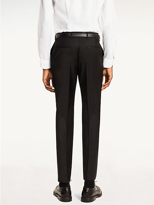 TOMMY HILFIGER Steel Wool Slim Fit Trousers - 099 - TOMMY HILFIGER Tailored - detail image 1
