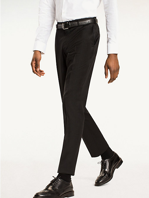 TOMMY HILFIGER Steel - Pantaloni slim in lana - 099 - TOMMY HILFIGER Tailored - immagine principale
