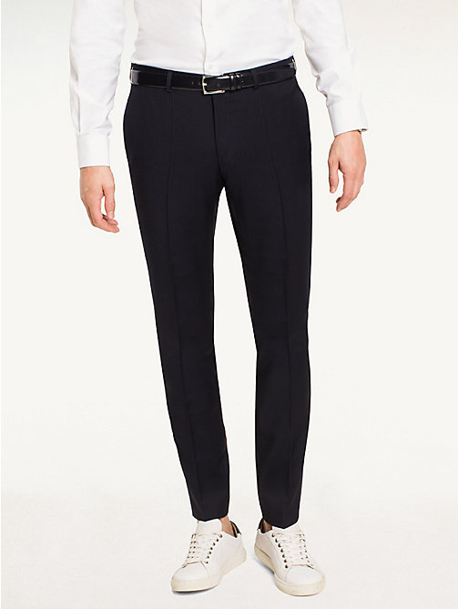 TOMMY HILFIGER Steel - Pantaloni slim in lana - 427 - TOMMY HILFIGER Tailored - immagine principale