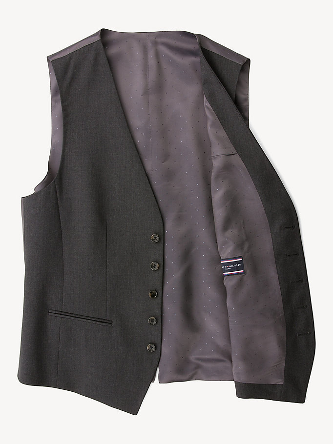 TOMMY HILFIGER Webster Wool Fitted Waistcoat - 427 - TOMMY HILFIGER Clothing - detail image 4