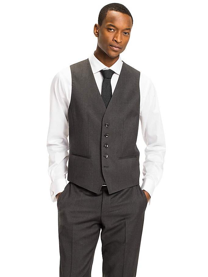 TOMMY HILFIGER Webster Wool Fitted Waistcoat - 427 - TOMMY HILFIGER Clothing - main image