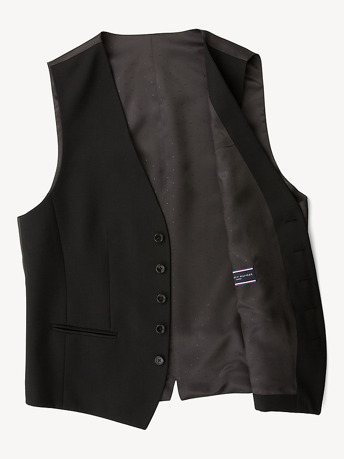 TOMMY HILFIGER Webster Wool Fitted Waistcoat - 019 - TOMMY HILFIGER Clothing - detail image 4