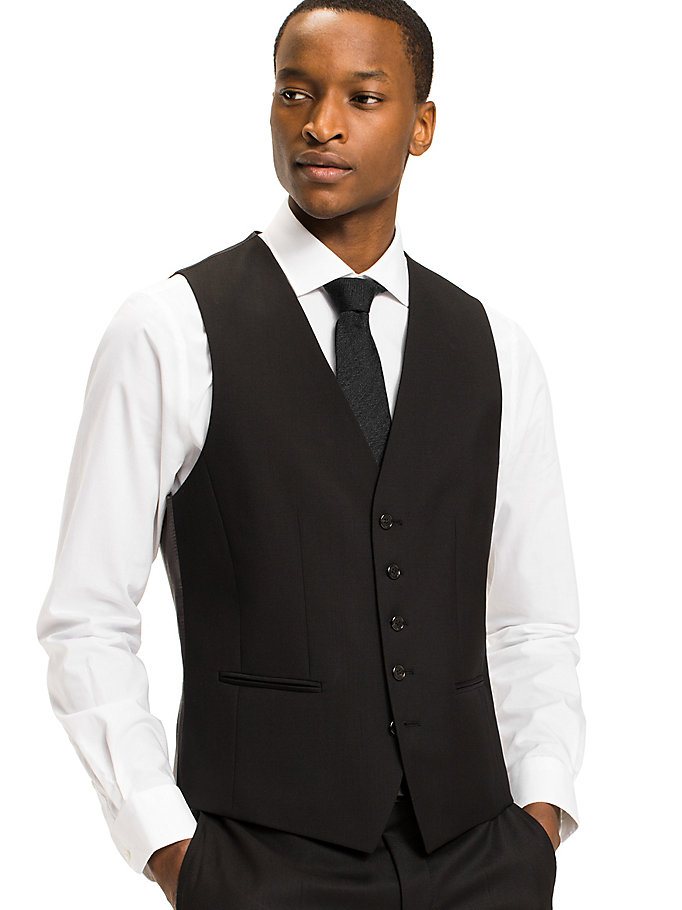 TOMMY HILFIGER Webster Wool Fitted Waistcoat - 019 - TOMMY HILFIGER Clothing - main image