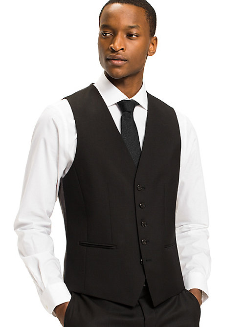 TOMMY HILFIGER Webster Wool Fitted Waistcoat - 099 - TOMMY HILFIGER Tailored - main image