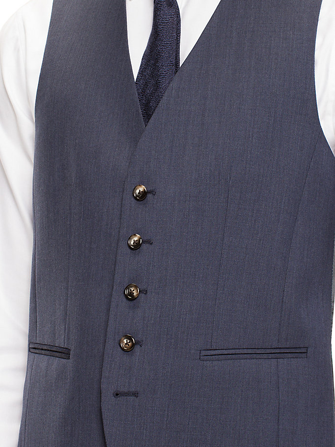TOMMY HILFIGER Webster Wool Fitted Waistcoat - 099 - TOMMY HILFIGER Clothing - detail image 3
