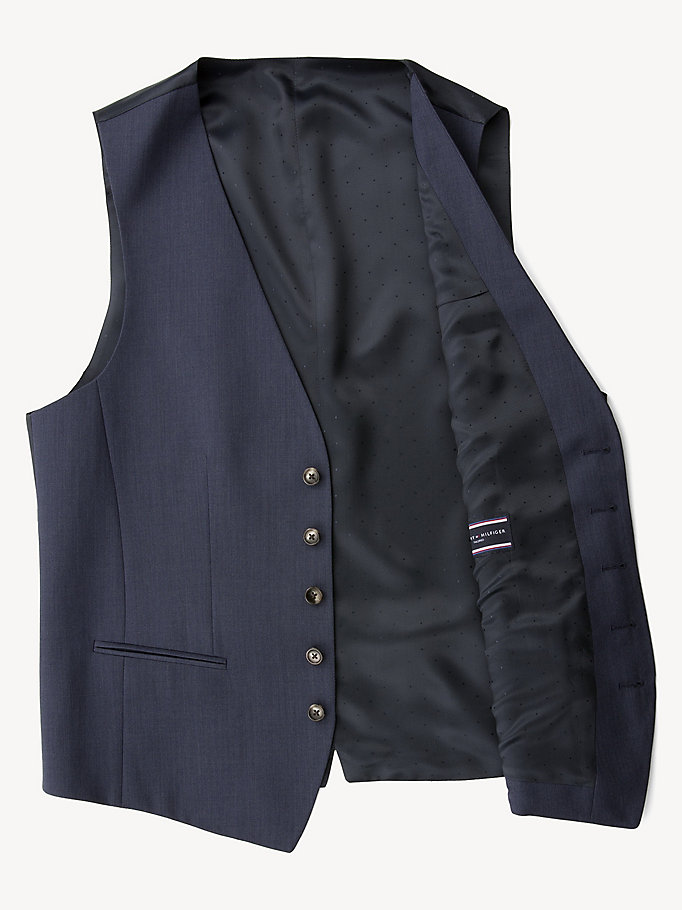 TOMMY HILFIGER Webster Wool Fitted Waistcoat - 099 - TOMMY HILFIGER Clothing - detail image 4