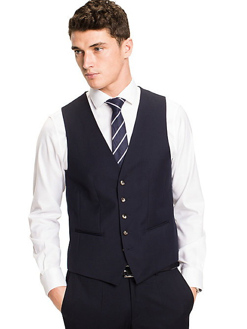 TOMMY HILFIGER Webster Wool Fitted Waistcoat - 427 - TOMMY HILFIGER Tailored - main image