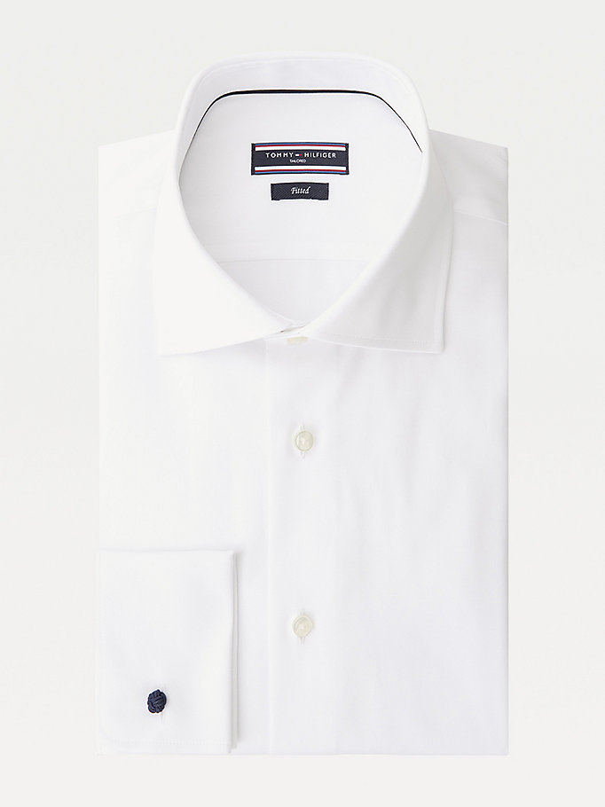 TOMMY HILFIGER Johnny Double Cuff Fitted Shirt - 410 - TOMMY HILFIGER Clothing - main image
