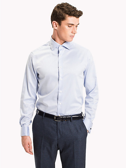 TOMMY HILFIGER Fitted Double Cuff Shirt - 410 - TOMMY HILFIGER Tailored - detail image 1