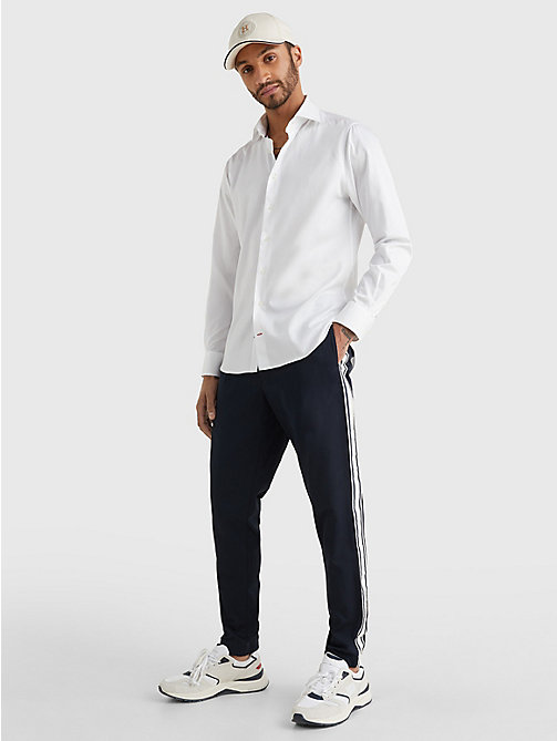 TOMMY HILFIGER Pure Cotton Fitted Shirt - 100 - TOMMY HILFIGER Formal Shirts - detail image 1