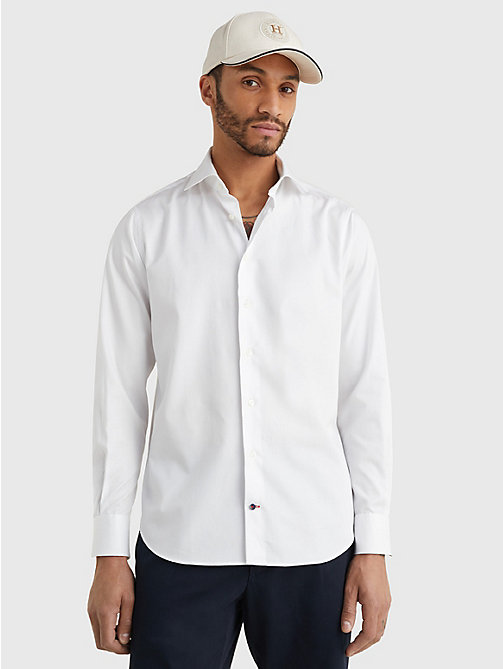 TOMMY HILFIGER Pure Cotton Fitted Shirt - 100 - TOMMY HILFIGER Formal Shirts - main image