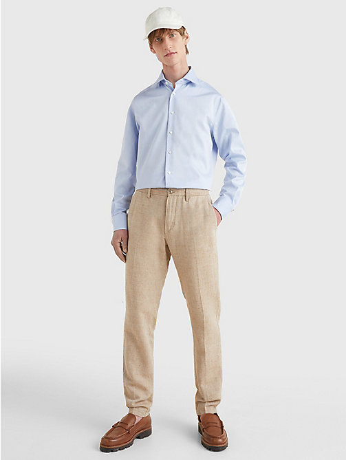 TOMMY HILFIGER Pure Cotton Fitted Shirt - 410 - TOMMY HILFIGER Tailored - detail image 1
