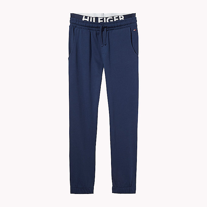 TOMMY HILFIGER JERSEY TRACK PANT - DARK GREY HEATHER - TOMMY HILFIGER Clothing - main image