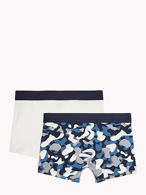 TOMMY HILFIGER 2-Pack Stretch Cotton Trunks - BLUE ASHES/WHITE - TOMMY HILFIGER Underwear & Sleepwear - detail image 1