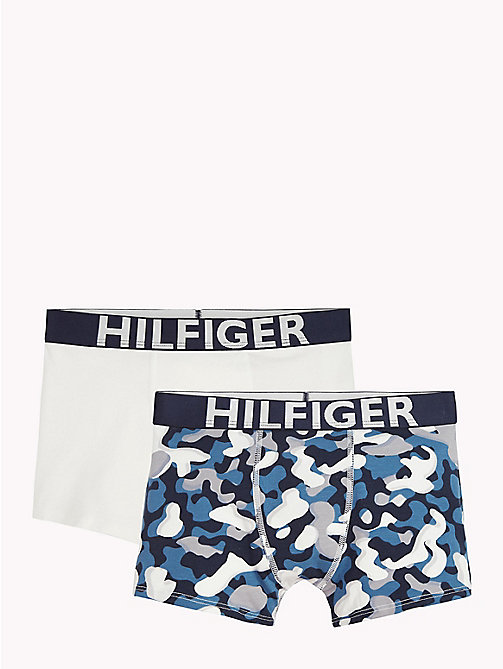 TOMMY HILFIGER 2-Pack Stretch Cotton Trunks - BLUE ASHES/WHITE - TOMMY HILFIGER Boys - main image