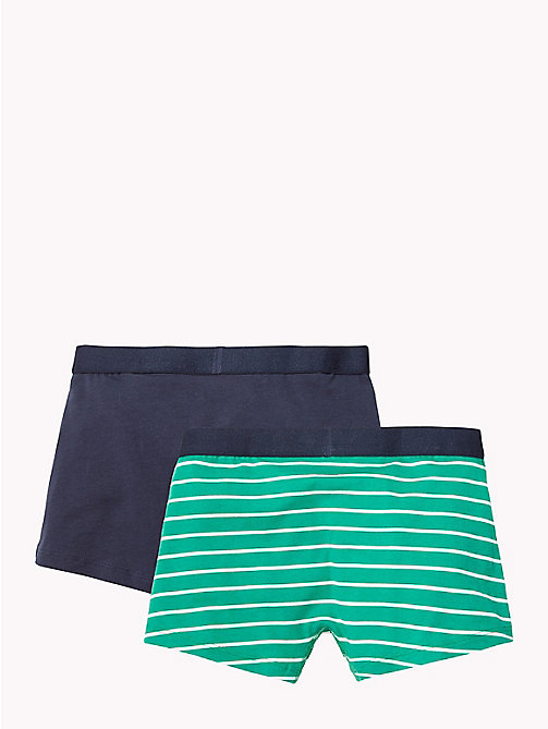TOMMY HILFIGER 2-Pack Cotton Trunks - GREEN LAKE/NAVY BLAZER - TOMMY HILFIGER Underwear & Sleepwear - detail image 1