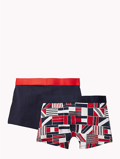 TOMMY HILFIGER 2-Pack Cotton Trunks - TANGO RED/NAVY BLAZER - TOMMY HILFIGER Underwear & Sleepwear - detail image 1