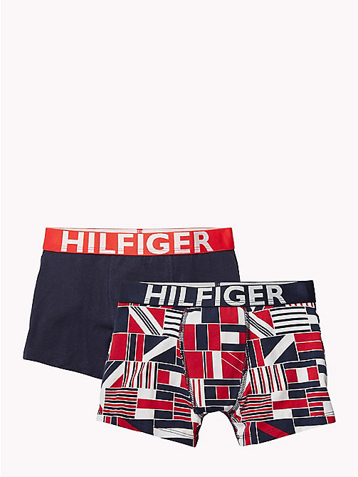 TOMMY HILFIGER 2-Pack Cotton Trunks - TANGO RED/NAVY BLAZER - TOMMY HILFIGER Underwear & Sleepwear - main image