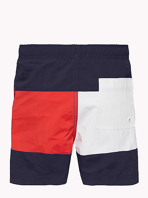TOMMY HILFIGER Colour-Blocked Nylon Swim Shorts - NAVY BLAZER - TOMMY HILFIGER Underwear & Sleepwear - detail image 1