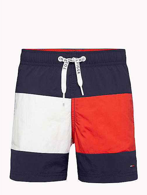 TOMMY HILFIGER Colour-Blocked Nylon Swim Shorts - NAVY BLAZER - TOMMY HILFIGER Underwear & Sleepwear - main image