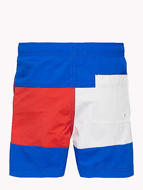 TOMMY HILFIGER Colour-Blocked Nylon Swim Shorts - LAPIS BLUE - TOMMY HILFIGER Underwear & Sleepwear - detail image 1