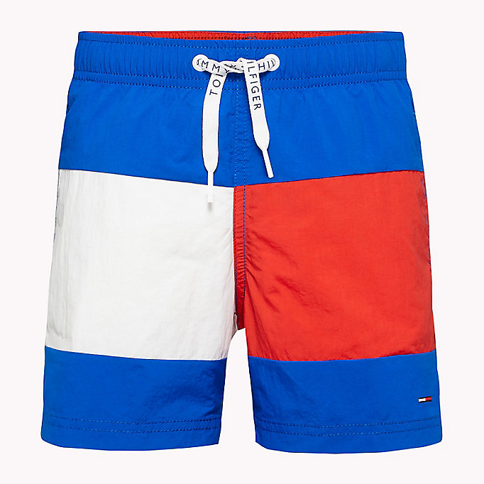 TOMMY HILFIGER Colour-Blocked Nylon Swim Shorts - NAVY BLAZER - TOMMY HILFIGER Clothing - main image