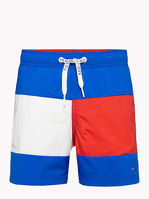 TOMMY HILFIGER Colour-Blocked Nylon Swim Shorts - LAPIS BLUE - TOMMY HILFIGER Swim styles - main image