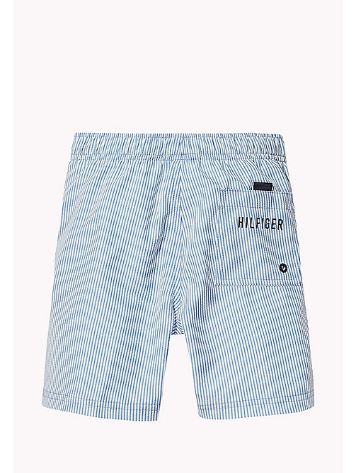 TOMMY HILFIGER Seersucker Swim Shorts - SEERSUCKER PRINT SILVER LAKE BLUE - TOMMY HILFIGER Swimwear - detail image 1