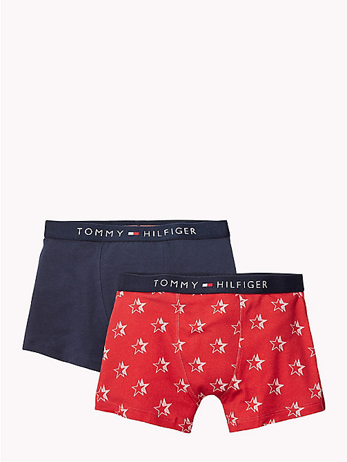 TOMMY HILFIGER 2-Pack Stretch Cotton Trunks - TANGO RED/NAVY BLAZER - TOMMY HILFIGER Underwear & Sleepwear - main image