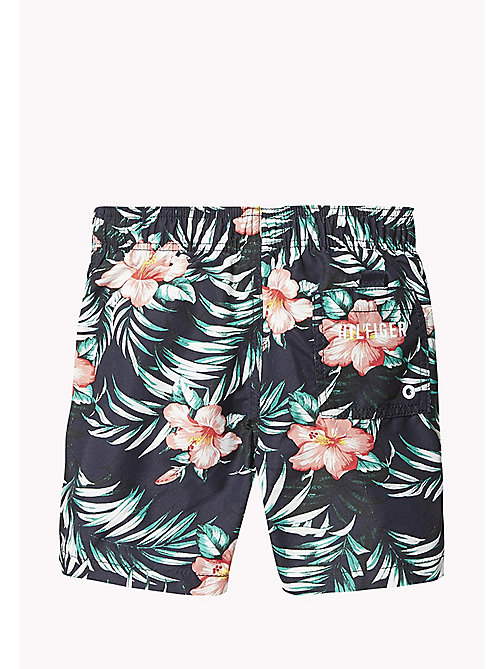 TOMMY HILFIGER Hibiscus Print Drawstring Swim Shorts - HIBISCUS PRINT NAVY BLAZER - TOMMY HILFIGER Swim styles - detail image 1