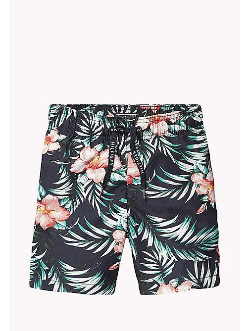 TOMMY HILFIGER Hibiscus Print Drawstring Swim Shorts - HIBISCUS PRINT NAVY BLAZER - TOMMY HILFIGER Swim styles - main image