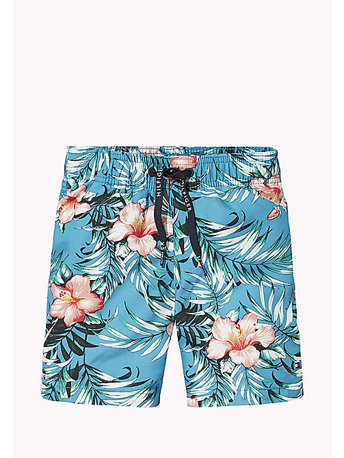 TOMMY HILFIGER Hibiscus Print Drawstring Swim Shorts - HIBISCUS PRINT BLUE DANUBE - TOMMY HILFIGER Swim styles - main image