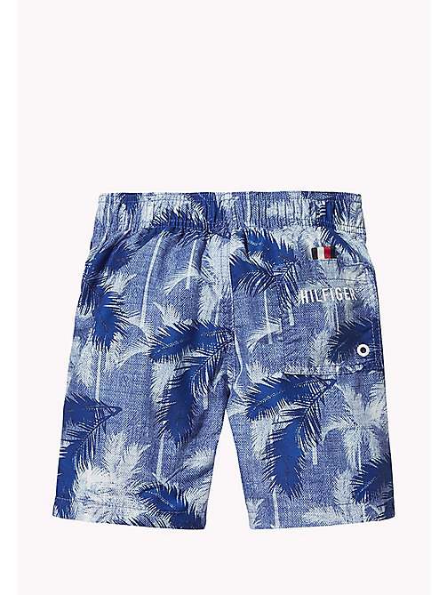 TOMMY HILFIGER Palm Print Drawstring Swim Shorts - CORE PALM PRINT  TRUE BLUE - TOMMY HILFIGER Underwear & Sleepwear - detail image 1