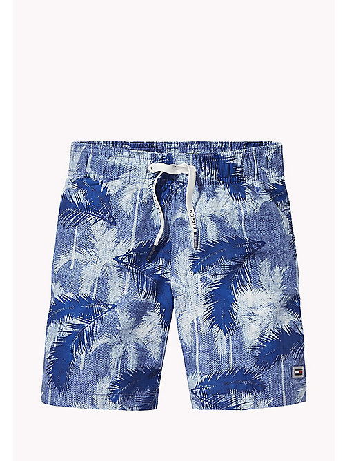 TOMMY HILFIGER Palm Print Drawstring Swim Shorts - CORE PALM PRINT  TRUE BLUE - TOMMY HILFIGER Swimwear - main image