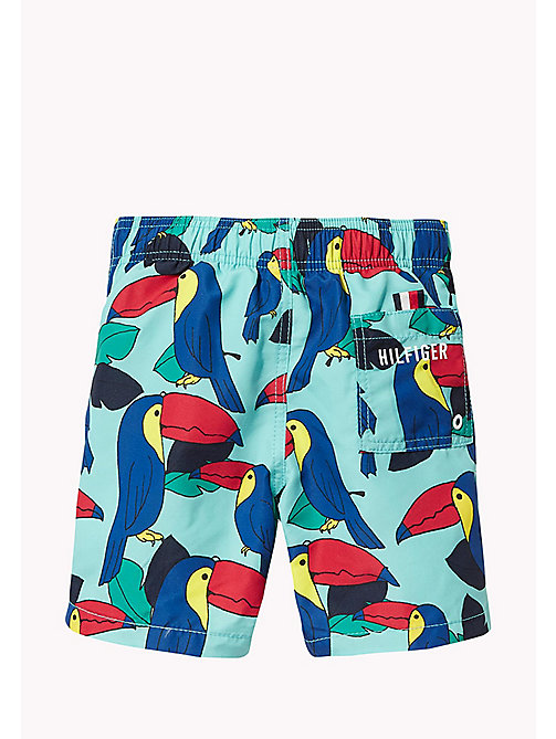 TOMMY HILFIGER Toucan Print Swim Shorts - TOUCAN PRINT BLUE CURACAO - TOMMY HILFIGER Boys - detail image 1