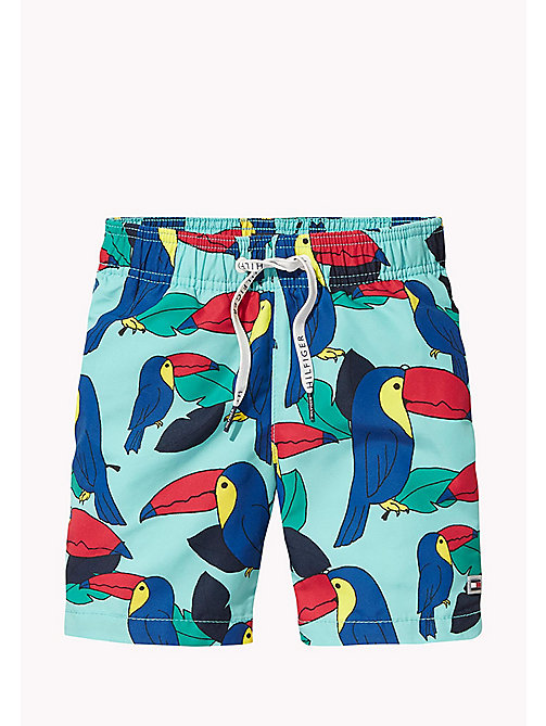 TOMMY HILFIGER Toucan Print Swim Shorts - TOUCAN PRINT BLUE CURACAO - TOMMY HILFIGER Boys - main image